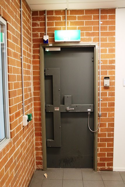 high security door and lock system emergency egress