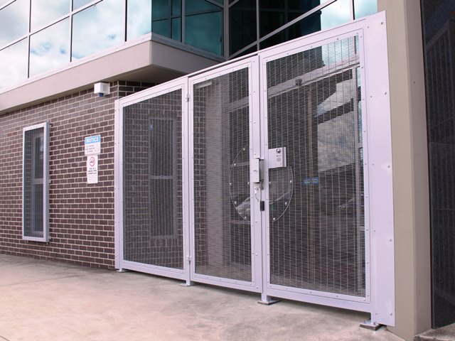 main entrance gate hinged