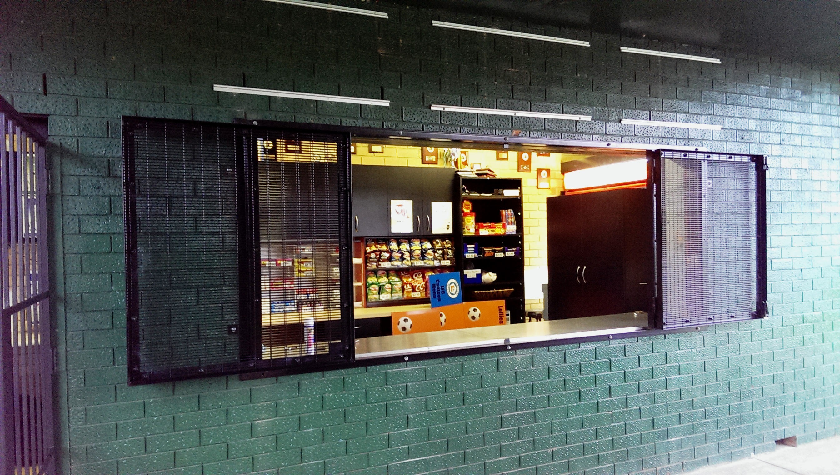 Roller Shutter Security Grille For Lugarno Football Club